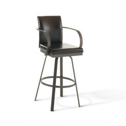 Amisco Lance 41436 Swivel Bar Stool With Arms Alfa Barstools