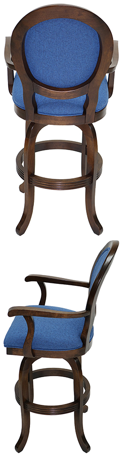Tobias Designs 500 Round Back With Arms Swivel Bar Stool