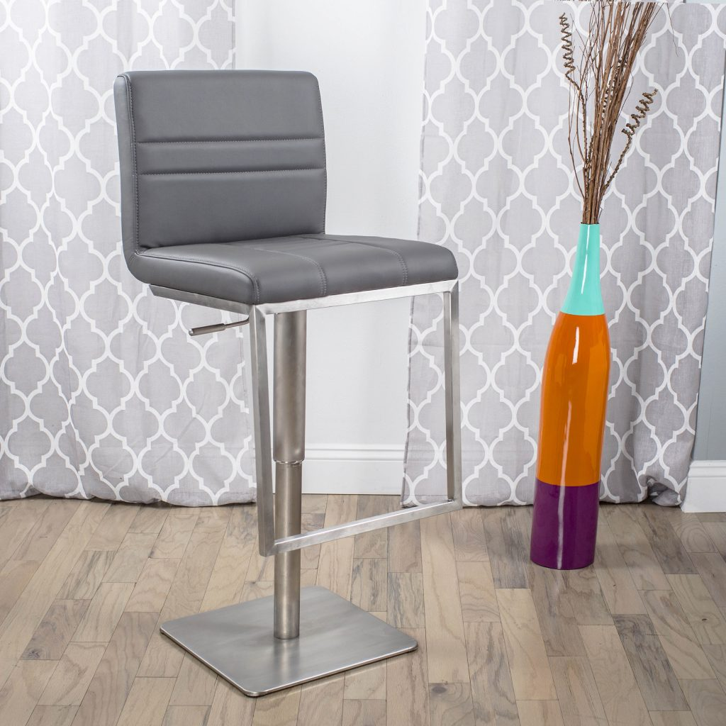 Matrix Imports Dimaz Stool Adjustable Height Stainless