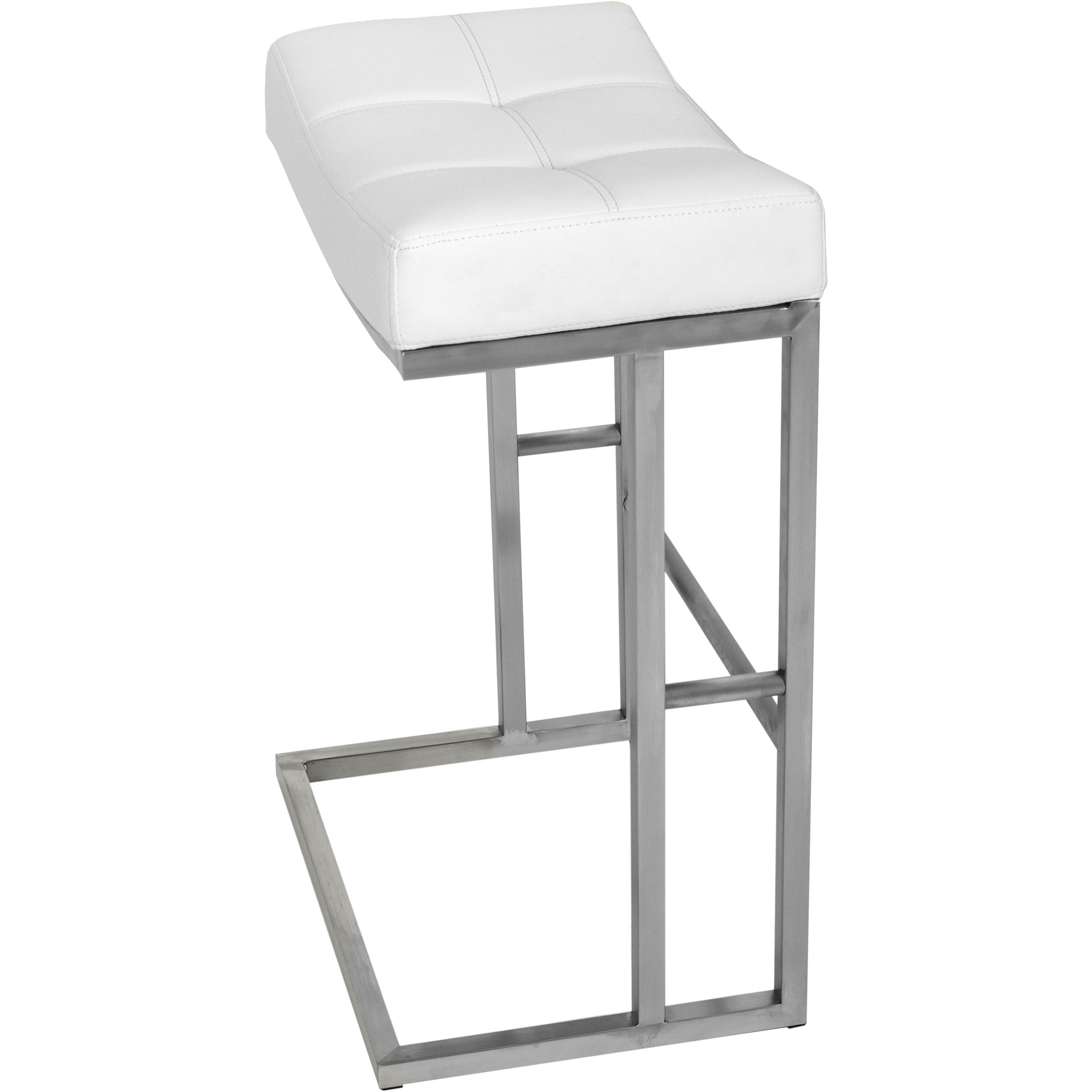 Incredible Matrix Imports Solis Stainless Saddle Backless Alfa Barstools Machost Co Dining Chair Design Ideas Machostcouk