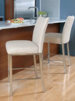 Trica biscardo Non Swivel Brushed Steel