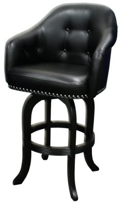 Comfortable Custom Height Captain S Bar Stool With Arms