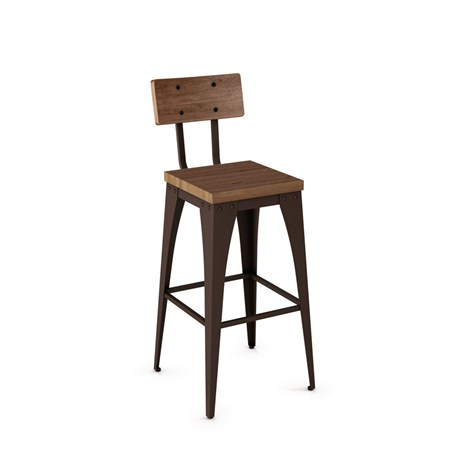 Amisco 40264 Upright Bar Amp Counter Stool Distressed Wood