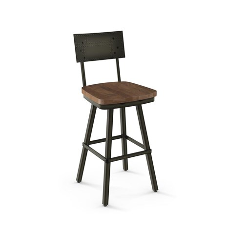 Amisco Jetson 41527 Swivel Stool Wood Seat Alfa Barstools