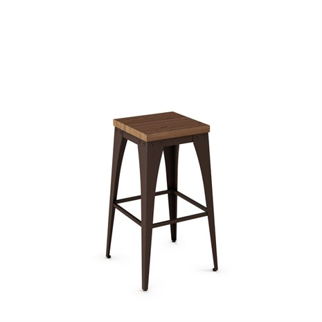 Amisco 42564 Upright Non Swivel Backless Distressed Wood