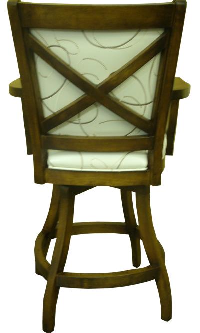 Custom Wood Mango Swivel Bar Stool With Arms S Base Alfa