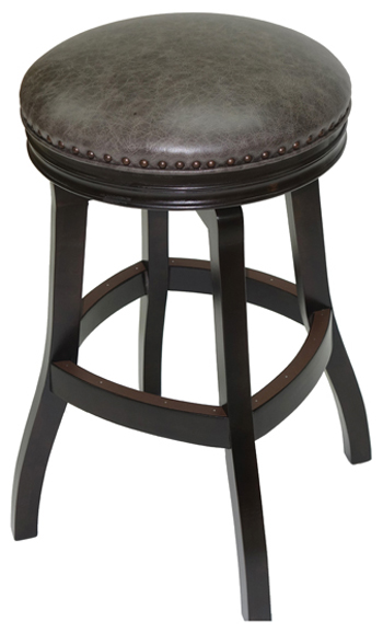 Wooden Backless Custom Swivel S Base Stool Alfa Barstools