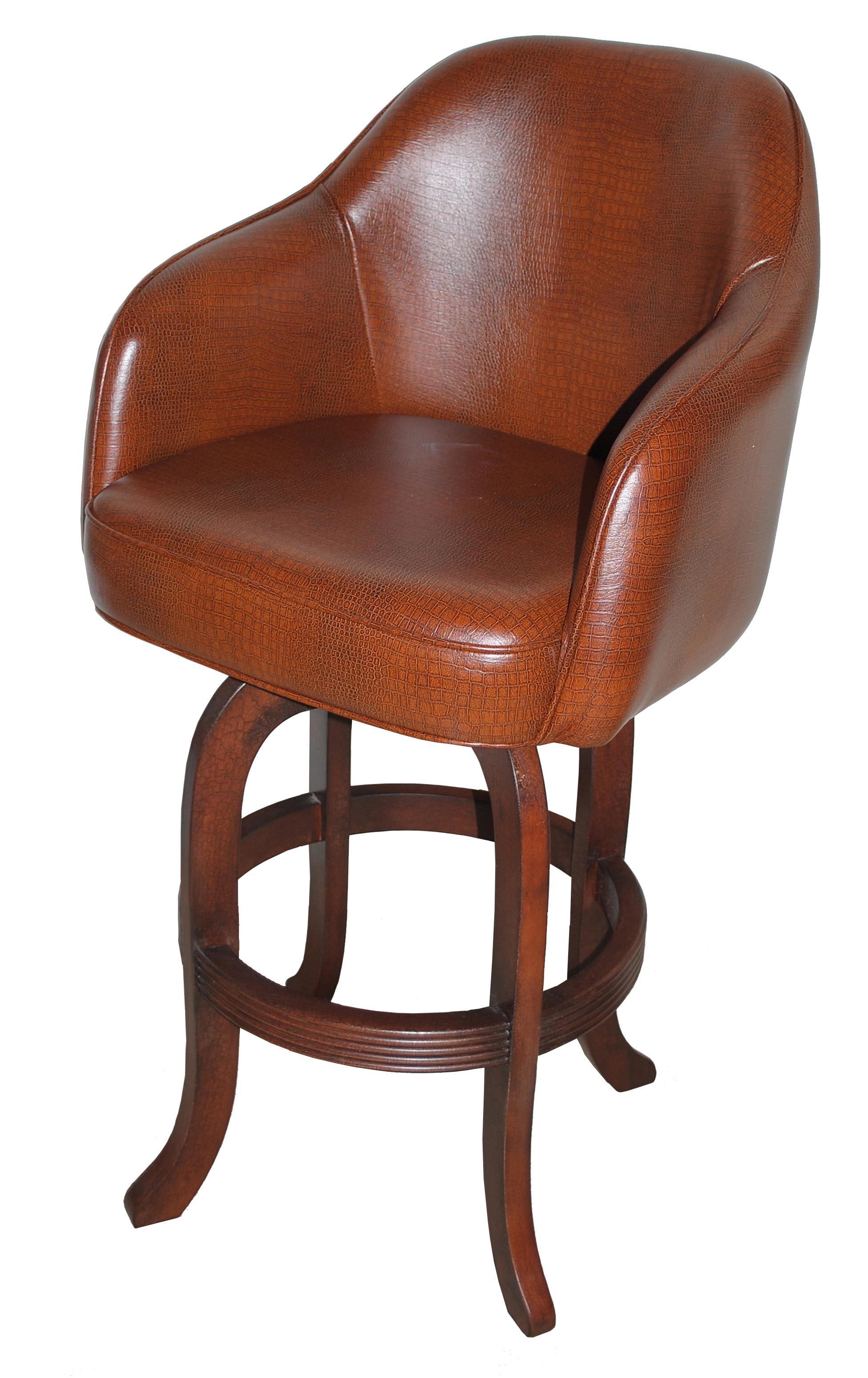 Comfortable Custom Wood Swivel Captains Bar Stools Alfa