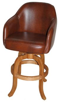 Custom Upholstered Arm Stool