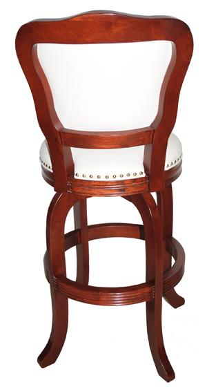 Wood Custom Swivel Bar Stool Oriental With Melina Base