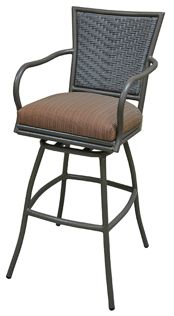 Custom 34 Inch Erin Outdoor Aluminum Swivel Bar Stool Alfa Barstools