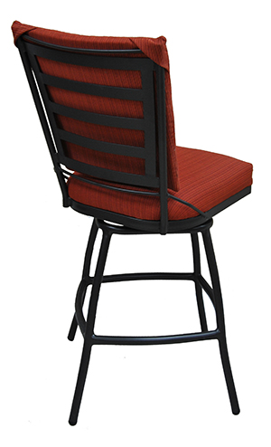 34 Inch Outdoor Jenna Swivel Bar Stool Cushion Seat Alfa
