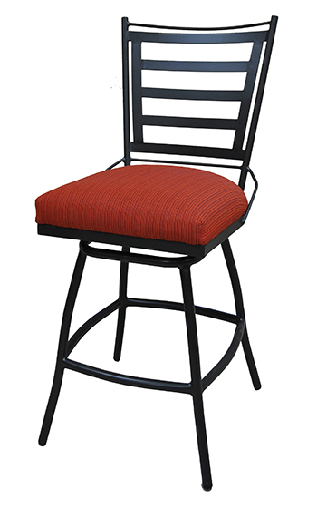 34 Inch Outdoor Jenna Swivel Bar Stool Cushion Backrest