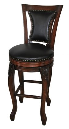 Customize Wood Thai Swivel Bar Stool In Extra Tall Sizes