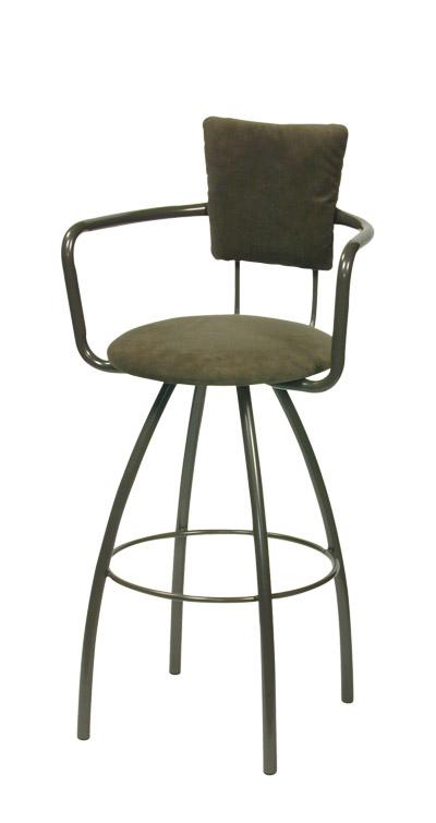 Trica Furniture Zip Swivel Bar Stool Upholstered Backrest