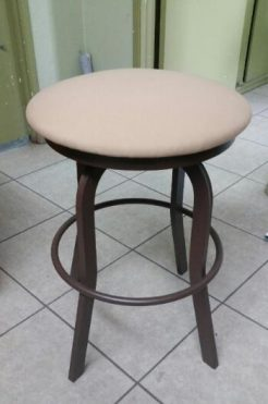 Outdoor backless tall stool