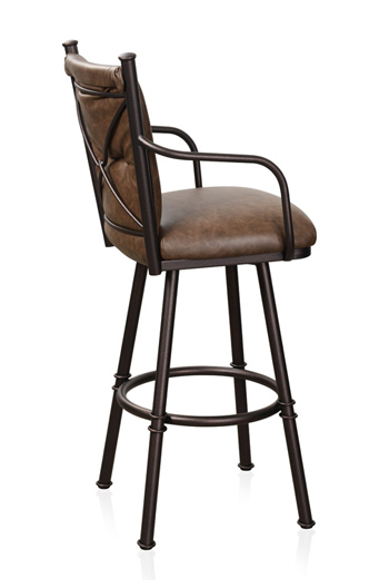 Trica Furniture Arthur Arm Swivel Bar Stool With Backrest