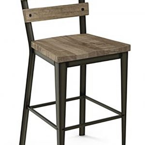 Amisco 40323 Dexter Distressed Stool