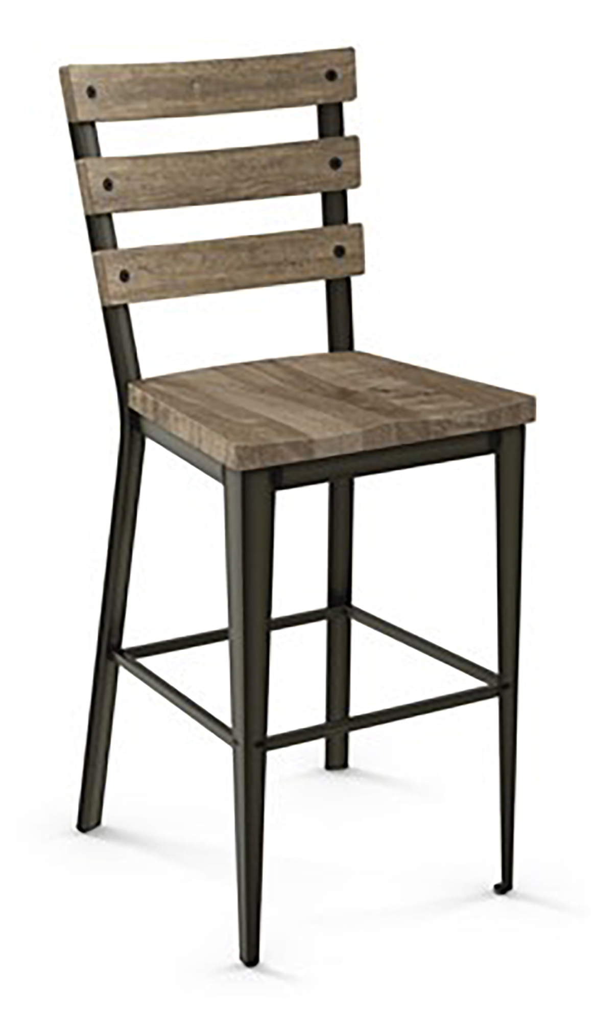 Amisco 40323 Dexter Distressed Wood Alfa Barstools