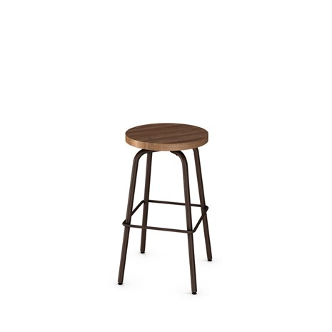 Button Stool Wood Seat