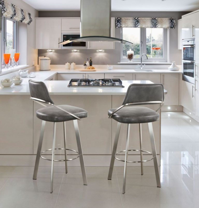 Trica Wish Brushed Stainless Swivel Bar Stool Alfa Barstools