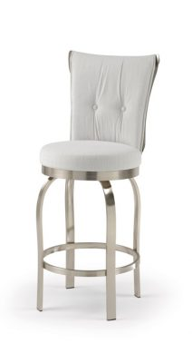 Trica Tuscany Swivel Brushed Steel Bar Stool No Arms