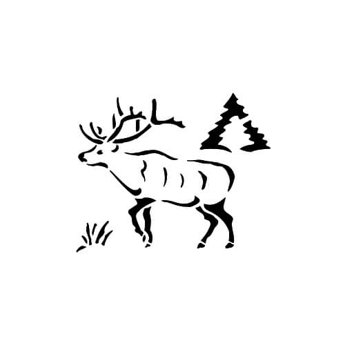 Elk Design On Back