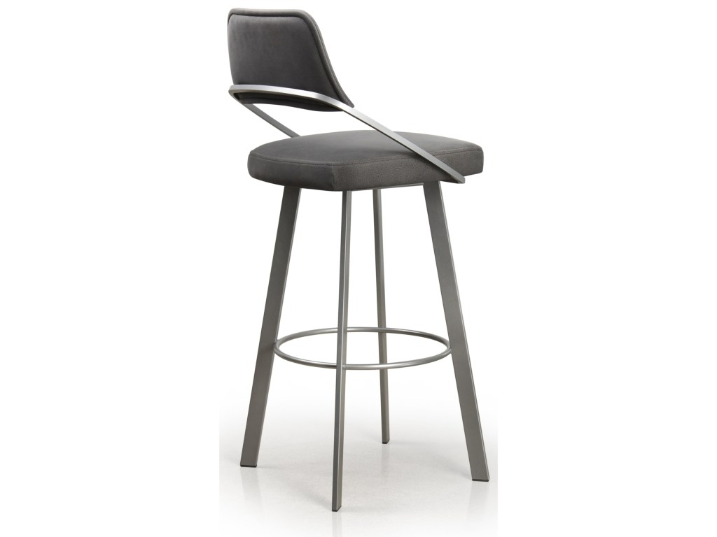 Trica Wish Swivel Bar Stool With Upholstered Backrest