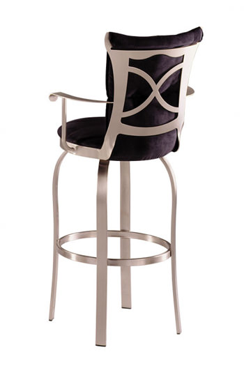 Trica Tuscany Swivel Brushed Steel Bar Stool With Arms