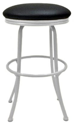 Swivel Backless Metal Stool